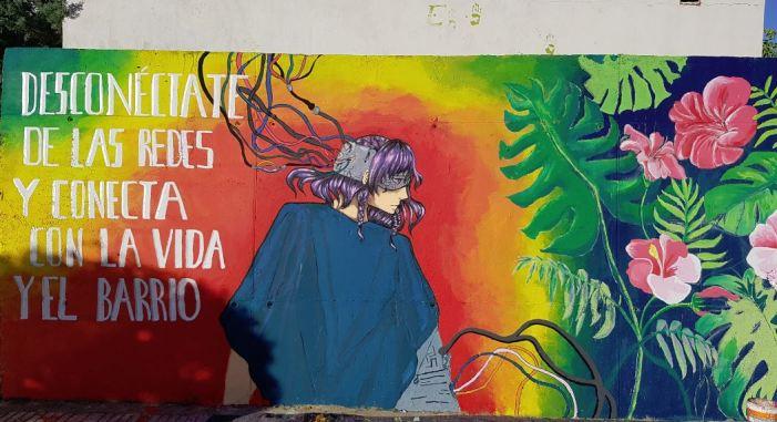L'IES José María Parra participa en el Festival Alqueri-ARTE 2019 amb un mural participatiu