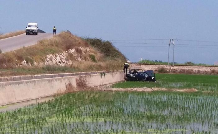 Aparatós accident al pont de la carretera d'Inagra a Sueca