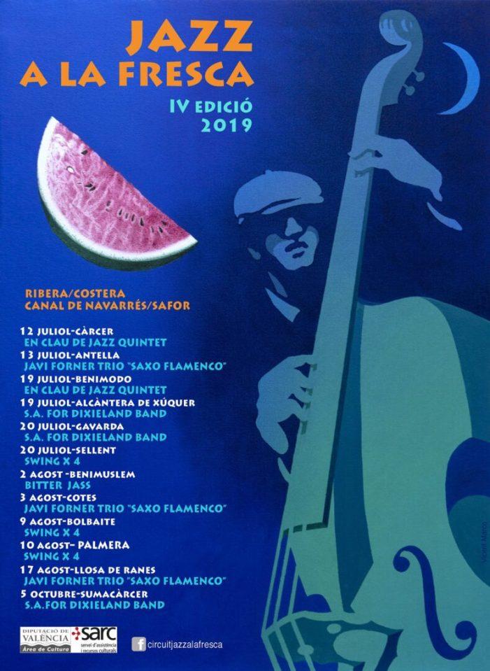 La Vall del Xúquer tornarà a disfrutar un any més als seus carrers del Jazz a la Fresca