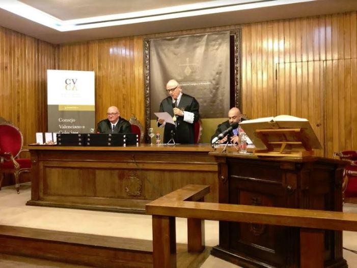 El CVCA va celebrar un acte solemne en la qual fins ara ha sigut la seua seu en el Palau de Justícia de València.