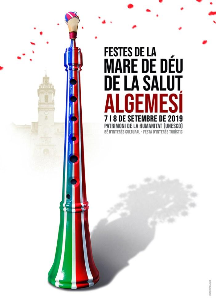Una dolçaina amb els colors de les dues muixerangues d'Algemesí anunciarà la Festa de la Mare de Déu de la Salut 2019