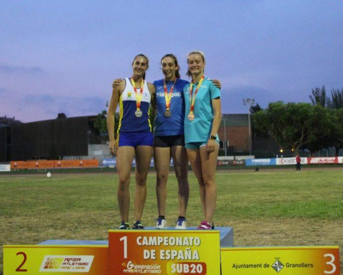L'almussafenya Sandra Ferriz, bronze en el Campionat d'Espanya d'Atletisme Sub20