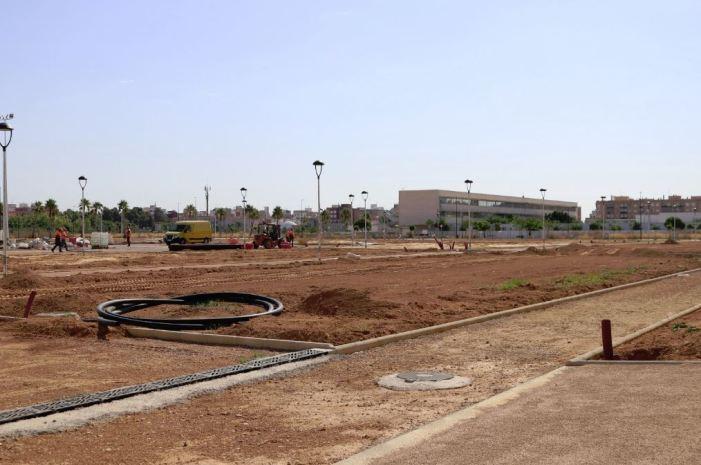 La urbanització del parc Benamá, de 25.000 metres quadrats,d'Albal acabarà al juliol