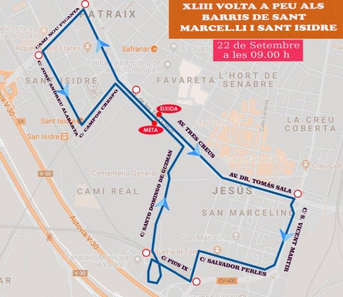 43ª Volta a Peu als barris de Sant Marcel·lí i Sant Isidre de València