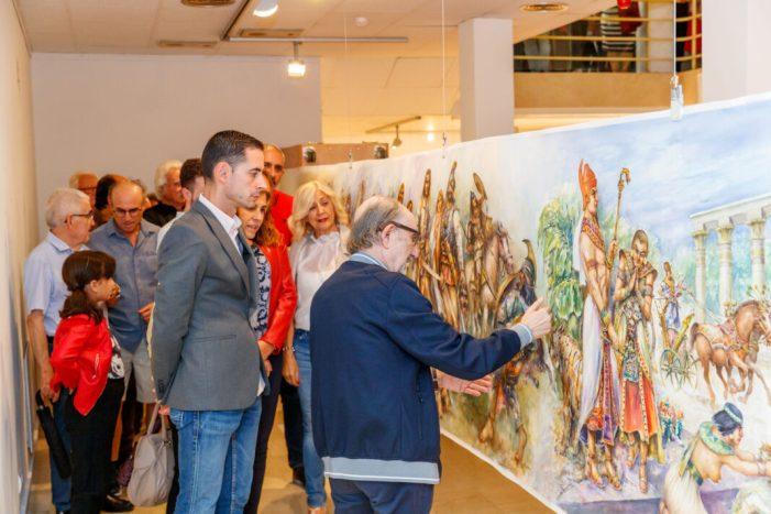 La Sala d'Exposicions de Mislata acull l'aquarel·la més gran del món