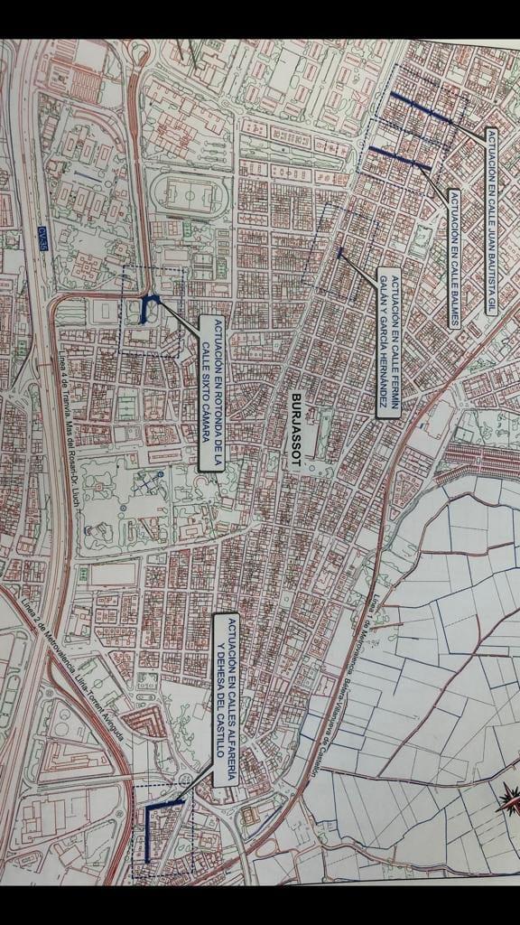 La setmana vinent començaran les tasques de repavimentación en diferents carrers de Burjassot