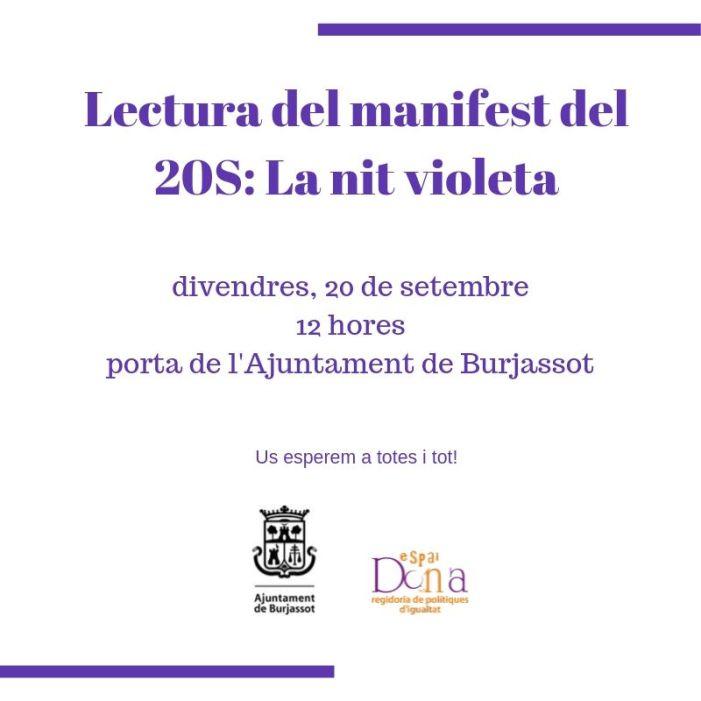 Burjassot s'adhereix a l'Emergència Feminista del 20S