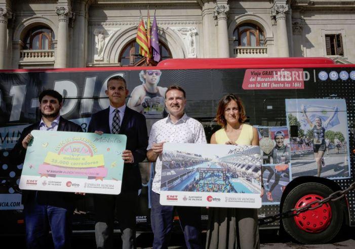 Mobilitat Sostenible organitza un dispositiu especial per a la Marató València Trinidad Alfonso 2019