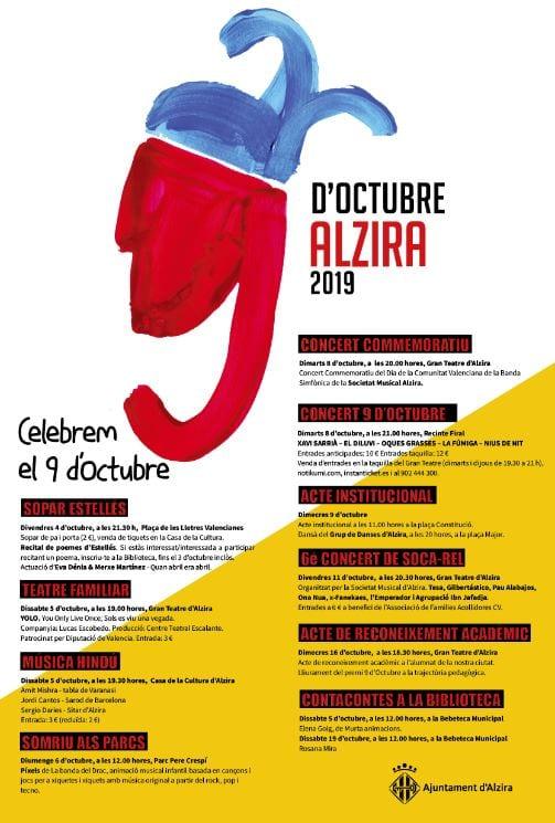 Alzira presenta activitats al voltant del 9 d'Octubre