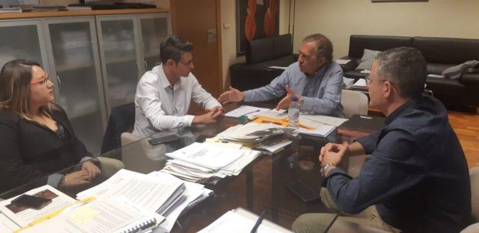 Toni González avança en la gestió del Pla Edificant amb la Conselleria d'Educació