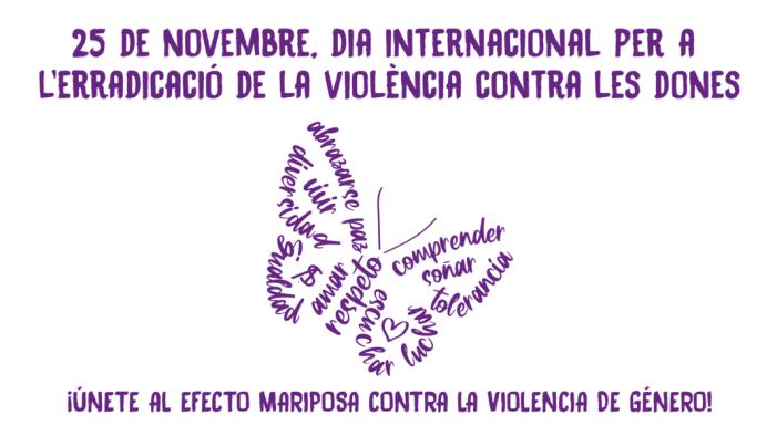 Les papallones arriben a Torrent per a eliminar la violència contra les dones