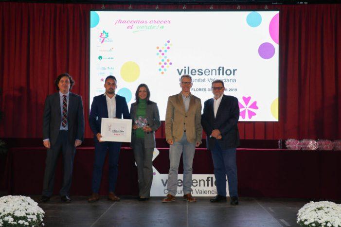 Torrent triomfa amb quatre Flores d'Honor en la gala Vils en Flor Comunitat Valenciana