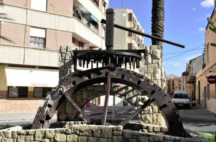 Alfafar restaurarà el monument de la sénia de la plaça Vicent Blanch