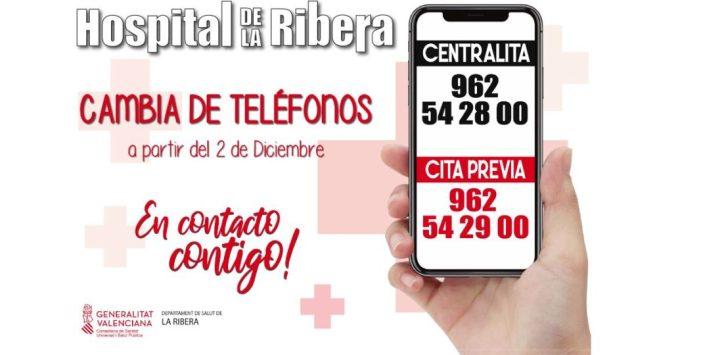 L'Hospital Universitari de la Ribera canvia de telèfons