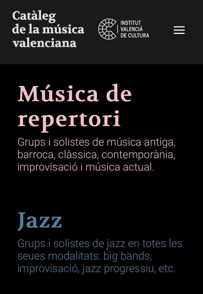 L'Institut Valencià de Cultura presenta la segona edició del 'Catàleg de la música valenciana