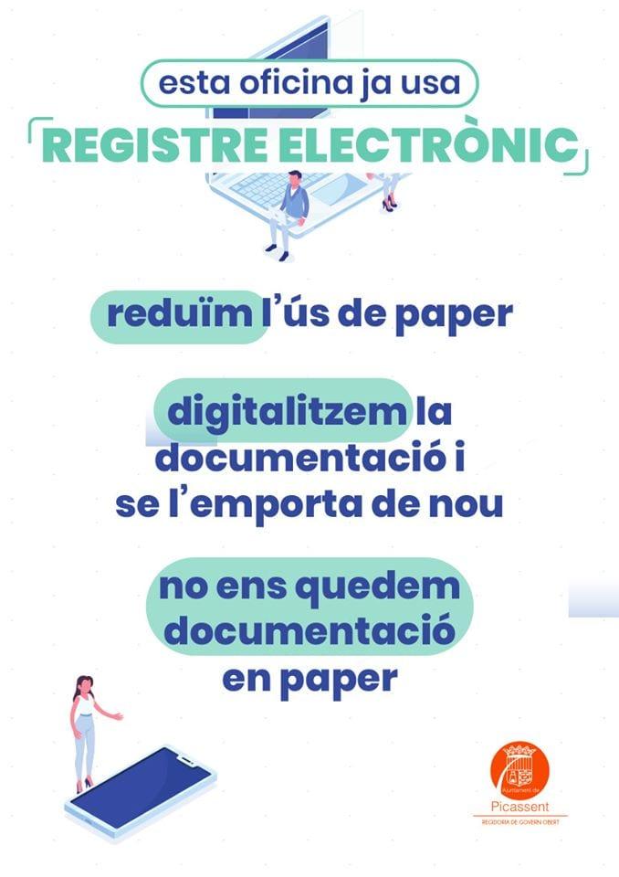 L'Ajuntament de Picassent encara la reducció de paper en els seus tràmits a través de l'administració electrònica