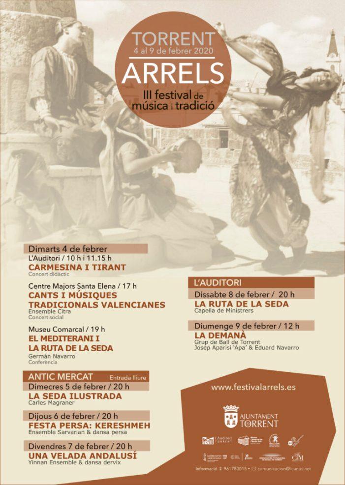 Torrent viatjarà a través de la Ruta de la Seda de la mà del festival Arrels