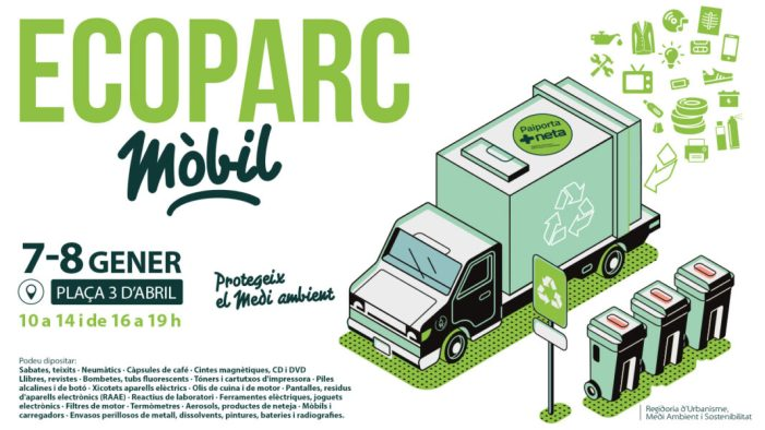 L'Ecoparc Mòbil comença el seu camí de 2020 els dies 7 i 8 de gener a Paiporta