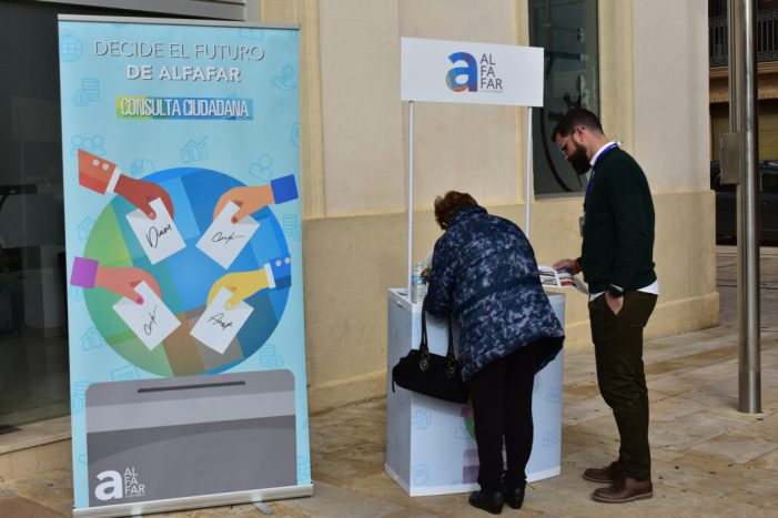 Alfafar realitza una consulta ciutadana per a dur a terme una inversió sostenible