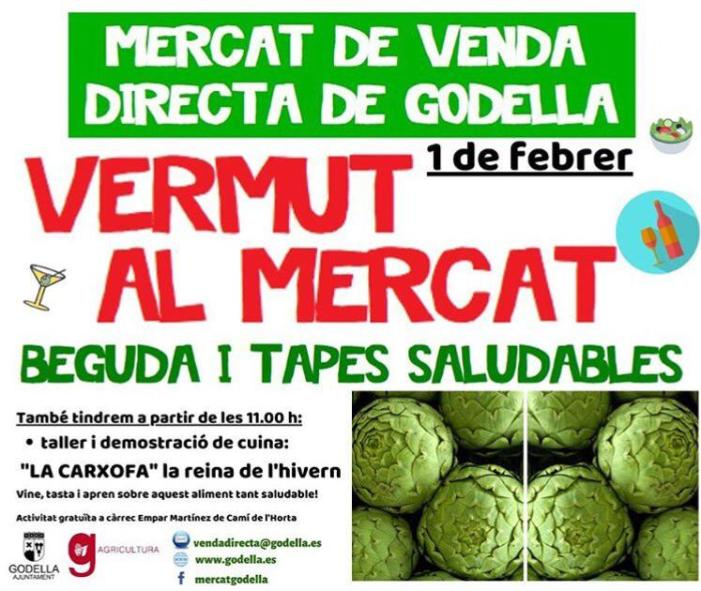 """Godella celebra una nova edició del seu """"Vermut al Mercat"""" amb un taller sobre la carxofa"""
