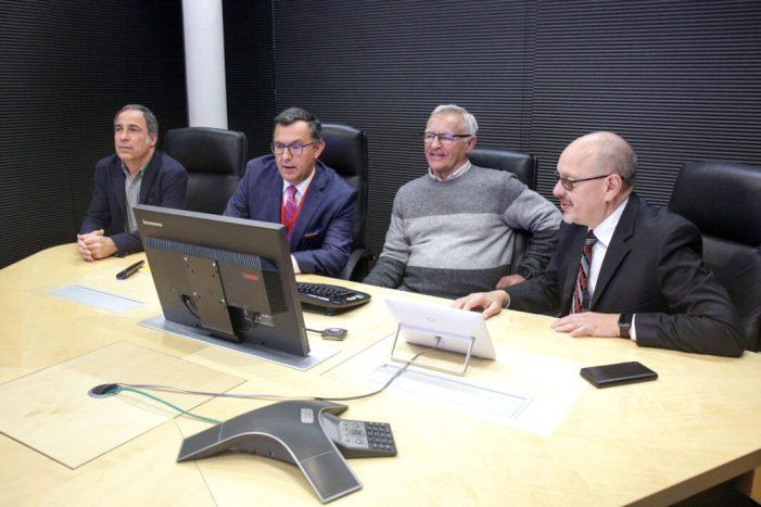 Joan Ribó visita el International Computing Centre de l'Organització de Nacions Unides