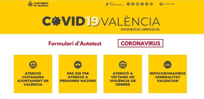 El portal COVID-19 de l'ajuntament de València supera les 14000 visites i incorpora panells smart per seguir l'evolució del virus