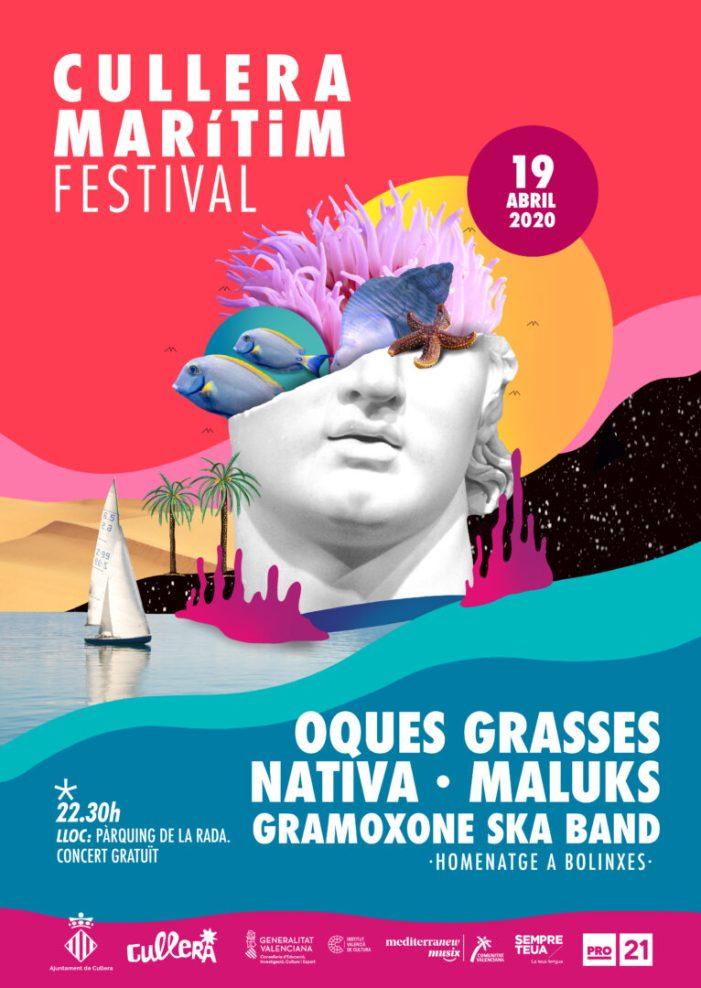 El V Festival Marítim de Cullera desvela un cartell carregat d'estils musicals i d'arrel valenciana