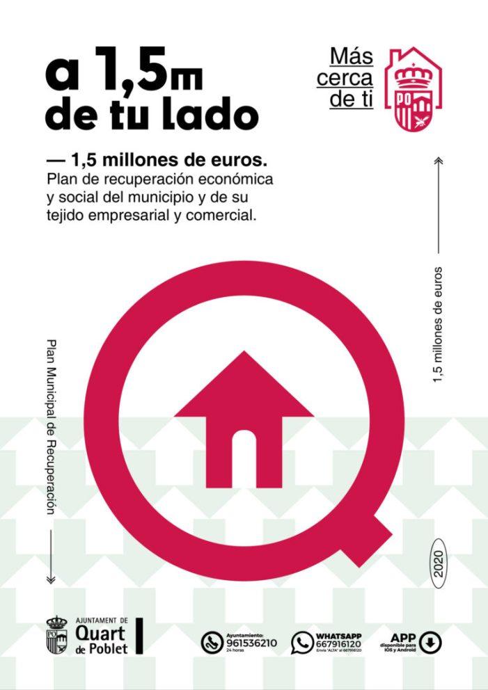 Quart de Poblet destina un milió i mig d'euros al pla de recuperació econòmica i social del municipi