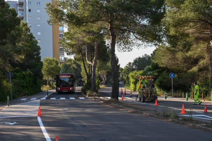 Mobilitat Sostenible crea 200 metres d'itinerari per a vianants en la Gola del Pujol