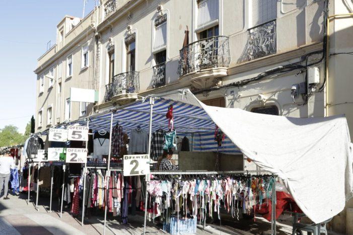 El mercat extraordinari de Godella represa la seua activitat el 29 de maig