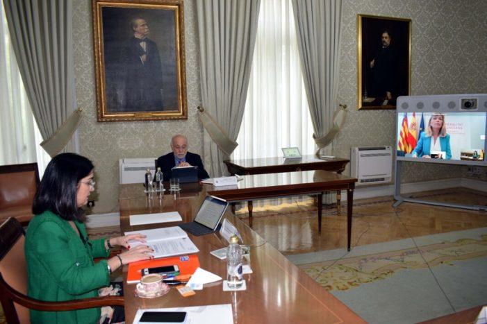 Carolina Darias i Gabriela Bravo aborden en una reunió bilateral el procés de desescalada i la situació de l'ocupació pública en la Comunitat Valenciana