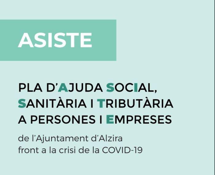 Alzira destina vora 1.7 M€ al Pla ASISTE, per a fer front a la crisi de la Covid-19