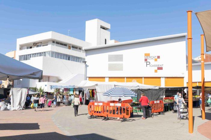 El mercat ambulant de Picassent torna al 95% de la seua ocupació