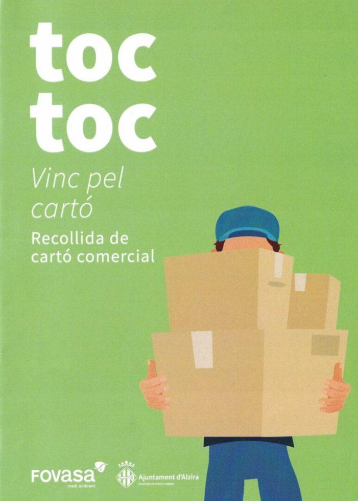 115 comerços de la zona centre s'adherixen a la campanya de recollida de cartó comercial