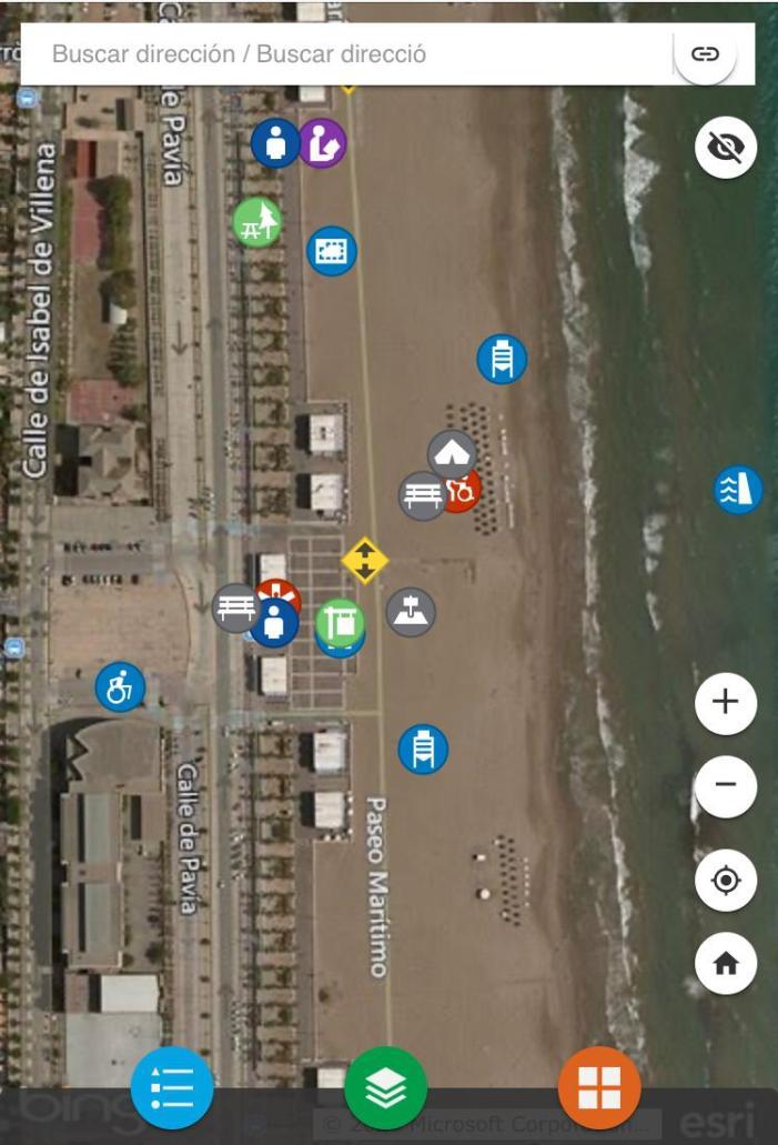 Appvalència informarà sobre l'estat de les platges i ubicarà els servicis a la ciutadania