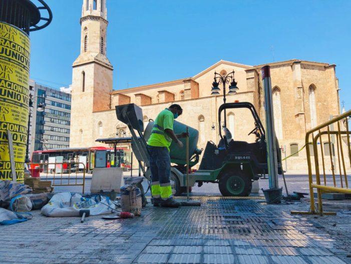 Comencen les obres de conversió en zona de vianants de la plaça de Sant Agustí a València