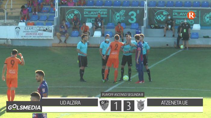 L'Atzeneta elimina a la UD Alzira en véncer 1-3 en els Play-off d'ascens a la 2B del futbol