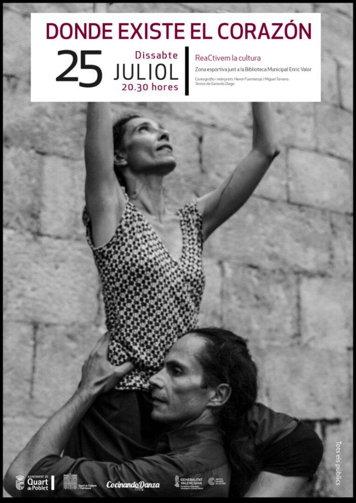 """Quart de Poblet se suma al programa """"reaCtivem"""" amb l'espectacle de dansa On Existeix el Cor"""