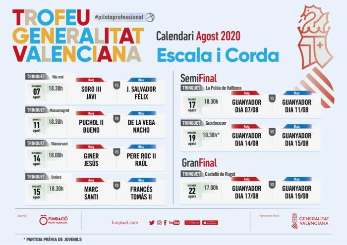 Ja està configurada la nova edició del Trofeu Diputació de València de frontó