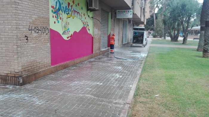 Xirivella reforça la neteja urbana davant els brots de Covid-19
