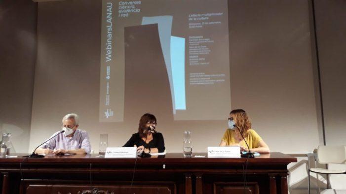 La directora general de Cultura i Patrimoni, Carmen Amoraga, participa en una sessió de 'WebinarsLANAU'