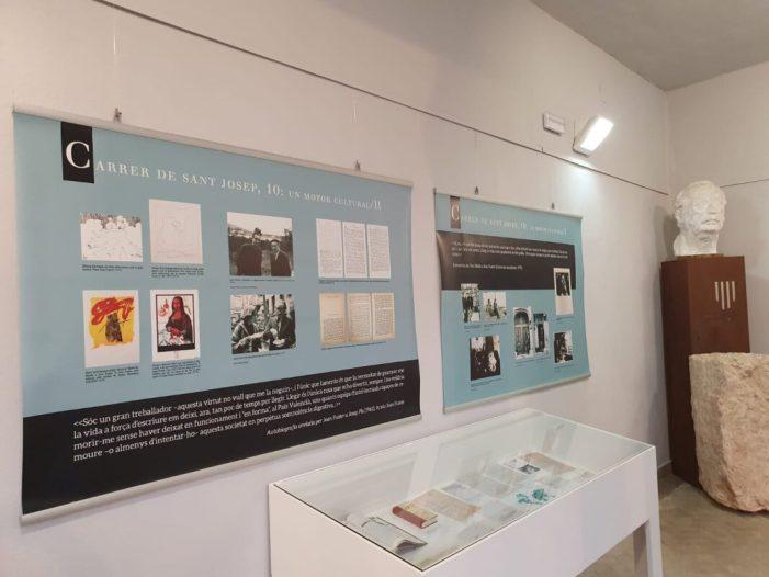 L'Espai Joan Fuster acull una exposició basada en la relació de l'escriptor amb la seua ciutat natal