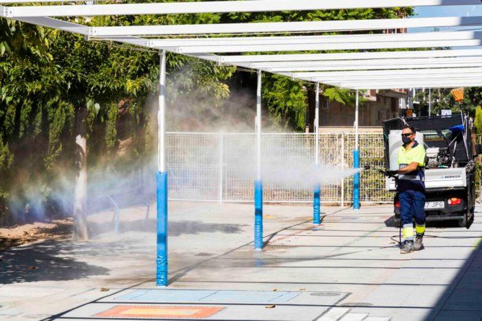 L'Ajuntament de Picassent intensifica les tasques de neteja als centres escolars de cara a l'inici del curs 2020/2021