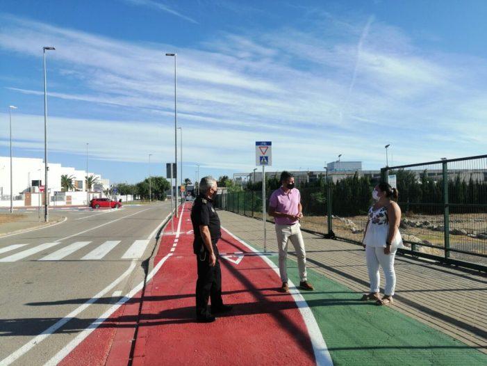 L'aposta de l'Ajuntament d'Almussafes pel transport ecològic inclou un nou carril bici a l'IES Almussafes