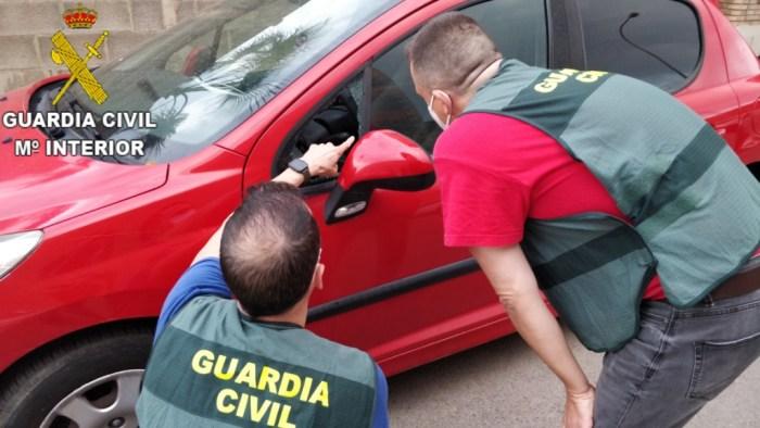 La Guàrdia Civil esclarix més  de 55 delictes de robatori en interior d'habitatges i vehicles a la comarca de L'Horta Nord