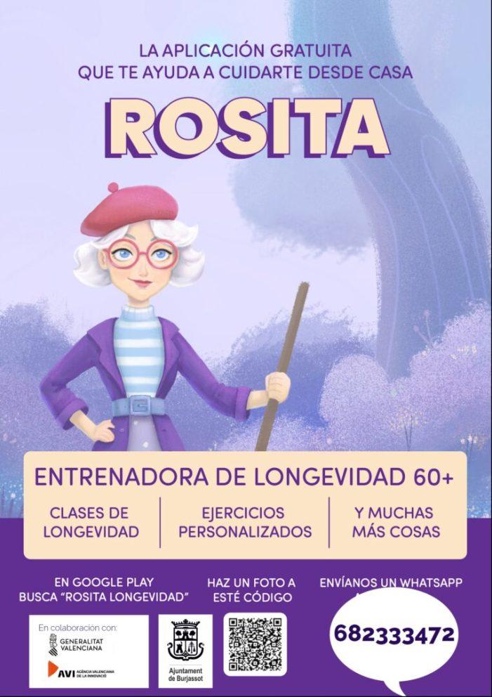 """Burjassot promou l'aplicació gratuïta """"Rosita"""" perquè els majors es cuiden des de casa"""