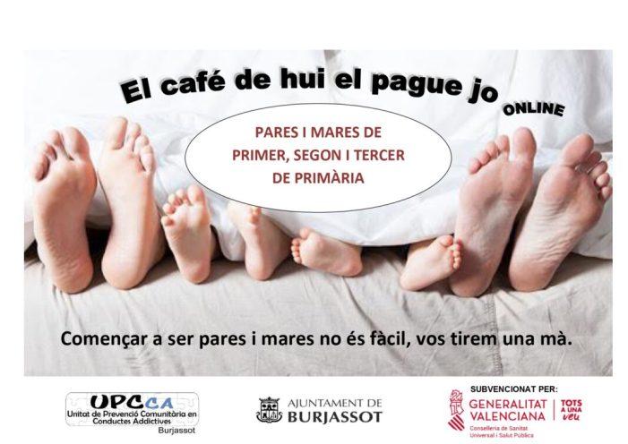 """La UPCCA de Burjassot realitzarà on line l'Escola de Pares i Mares """"El café de hui el pague jo"""""""