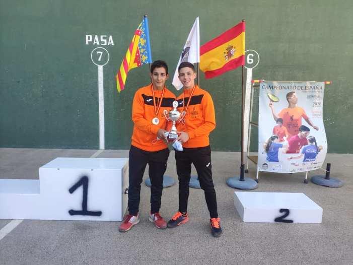 José Adam i Adrián Ribera, del Marquesat Frontenis, es proclamen campions d'Espanya en categoria cadet