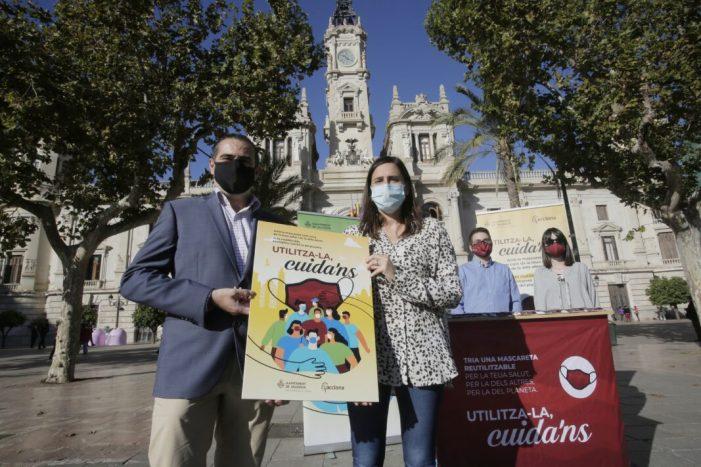 L'Ajuntament de València, a través de la Regidoria del Cicle Integral de l'Aigua, ha posat en marxa la campanya de conscienciació sobre l'ús de màscares «Utilitza-la Cuida'ns»