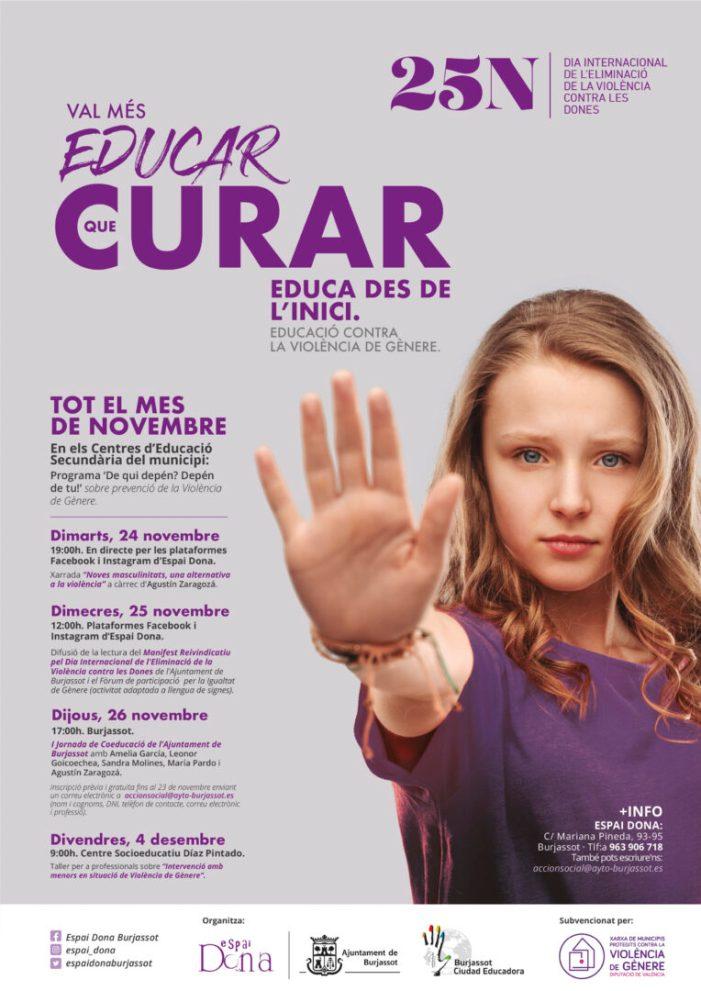 Burjassot presenta les seues activitats amb motiu del Dia Internacional per a l'Eliminació de la Violència de Gènere